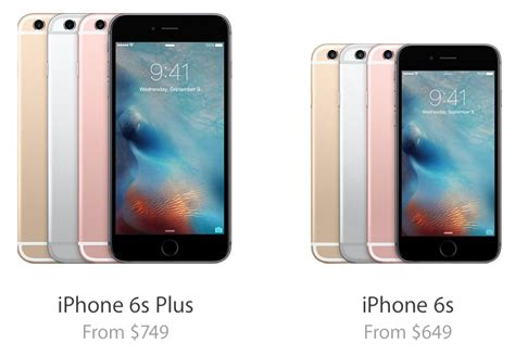 iphone 6s and iphone 6s plus price and availability