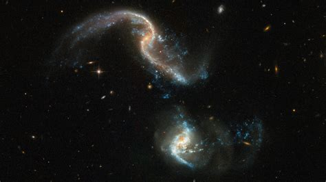 hubble telescope photos the hubble space telescope captured two galaxies