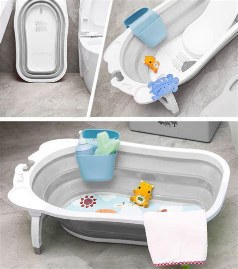 Karibu Folding Bath Blue karibu baby folding bath silver award winning newborn to