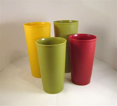 Tupperware Tumbler 1970s tupperware tumblers 2 large and 2 medium vintage pitchers cups glasses