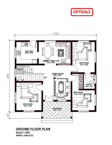 kerala house model plan kerala building construction kerala model house 1264 s f t