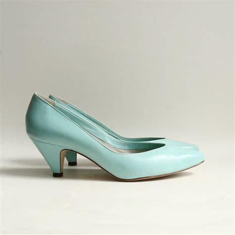 seafoam green high heels shoes 8 seafoam green heels 80s 1980s turquoise new wave