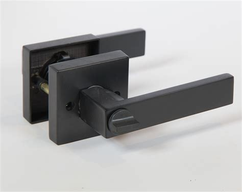 Oil Rubbed Bronze Kitchen Cabinet Hardware by Lisbone Square Rose Door Handle Lever Lock Set Modern