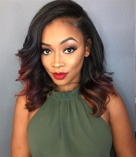 weaved lob hairstyle 13 short weave hairstyles currently trending right now