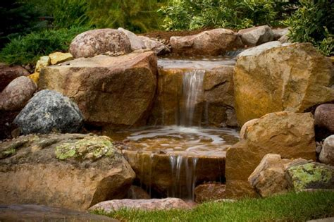 aquascape pondless waterfall fire water fountain fire