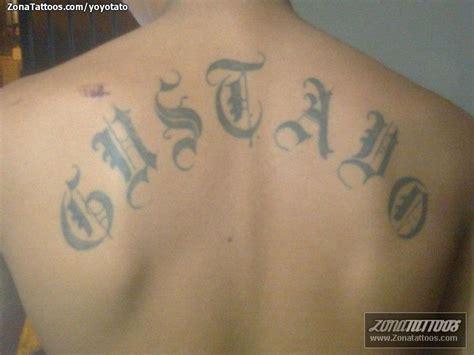 imagenes tatuajes q digan gustavo tatuaje de letras nombres gustavo