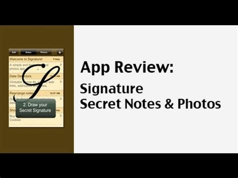 secret notes protecting information with the signature secret notes and