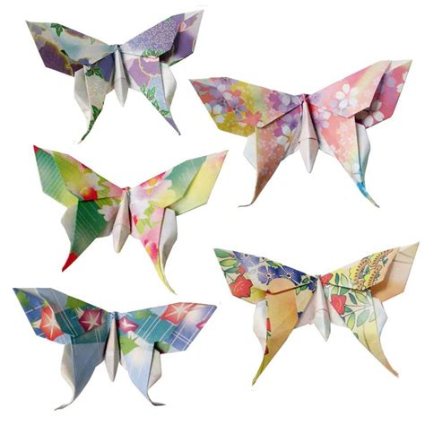 Origami Swallowtail Butterfly - 20 small swallowtail 3d origami butterflies floral print