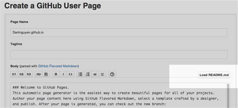 pre fab pages with github s automatic page generator gt gt 18