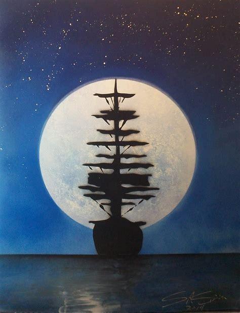 spray paint pirate ship spray paint blue moon ship
