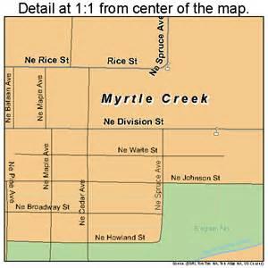 myrtle creek oregon map 4150950