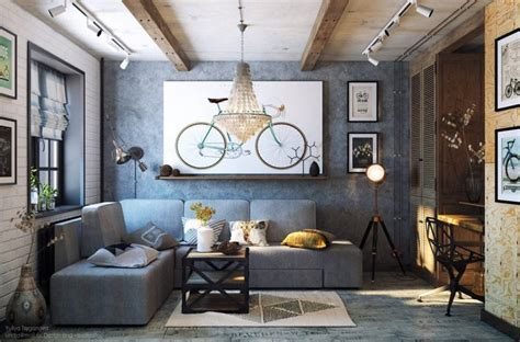 industrial room cozy industrial living room design in grey tones digsdigs