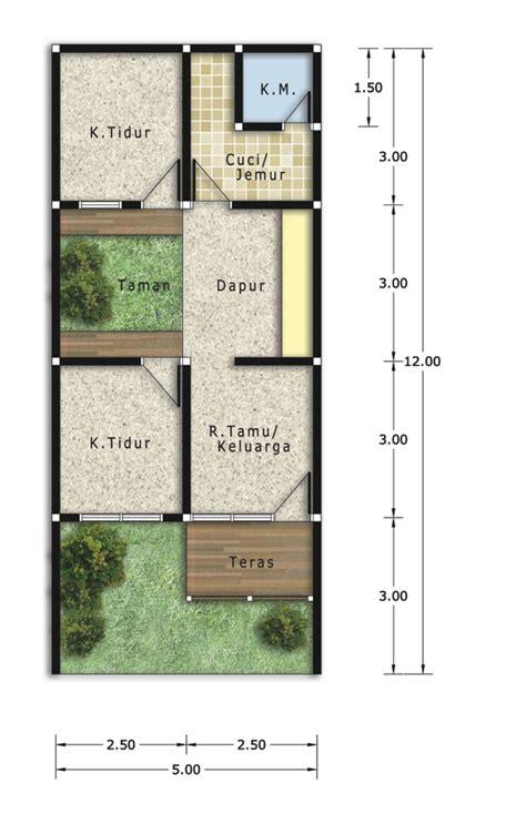 penjelasan denah ukuran rumah type     lantai