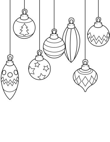 printable christmas decorations to colour ornaments coloring page free printable coloring pages