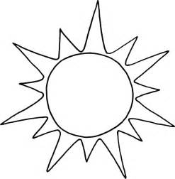 Sun Coloring Page Printable For Preschool  Point sketch template