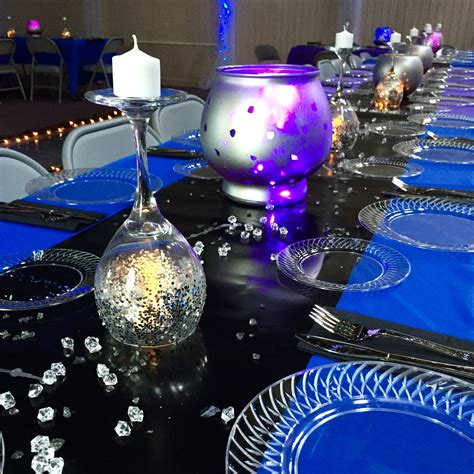 galaxy table decorations for the written in the formal theme dropsofdesign theme stage