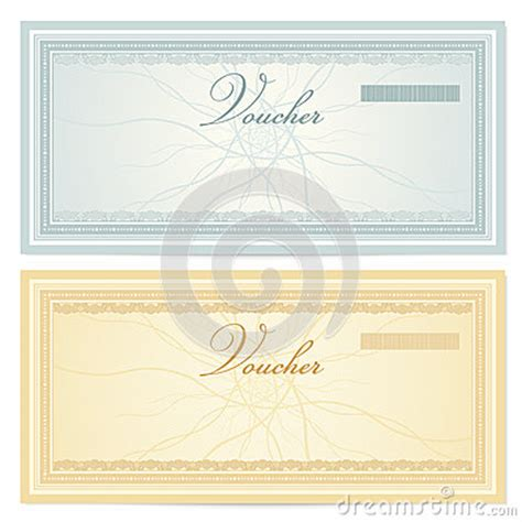 gift certificate voucher template pattern royalty free