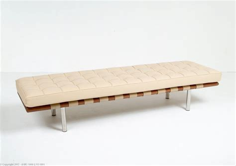 3 seat bench barcelona 3 seat bench cream leather mies van der rohe