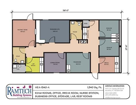 Clinic Floor Plans by Ramtech Clinic 1540sf Plans Clinic