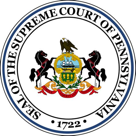 Judiciary Search Pa File Seal Of The Supreme Court Of Pennsylvania Svg