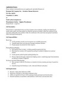 warehouse resume best template collection