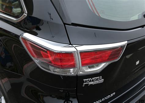 Toyota Highlander Accessories High Quality Chrome Rear Headlight Headl Lights