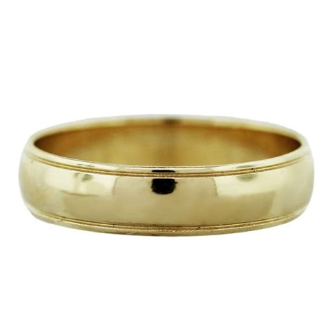 14k Gold Wedding Band by 14k Yellow Gold Mens Wedding Band Ring Boca Raton