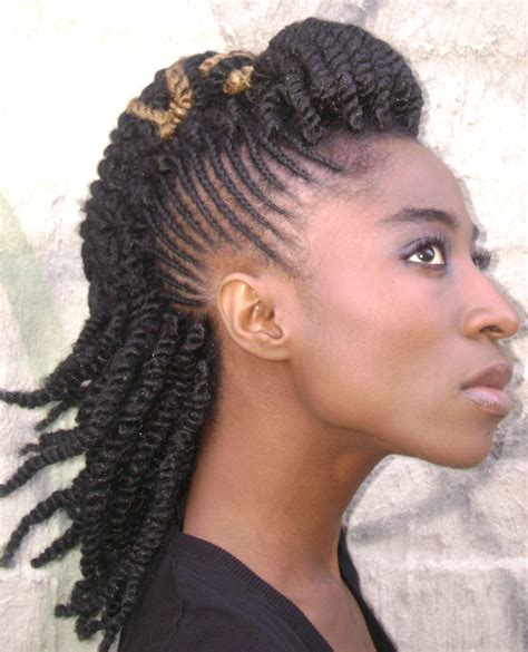 mohawk hairstyle for black with braiding hair braided mohawk hairstyles for black hair 2016 with