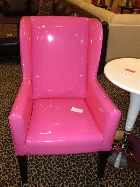 hot pink armchair hot pink patent leather arm chair home decor pinterest