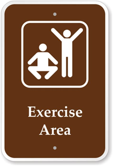 the color of a recreation area sign is exercise area sign cground sign park sign guide