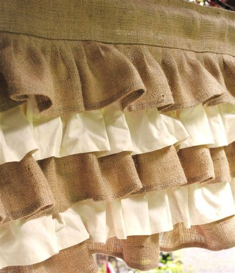 burlap ruffled curtains burlap ruffled curtains sacks burlap pinterest