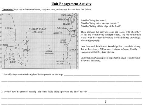 Lost At Sea Worksheet Answers by American Geography Student Packet 2012