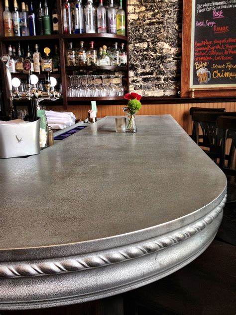 zinc bar tops our curved pewter bar top design for le r 234 ve patisserie