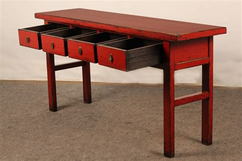 red sofa table with drawers red console table with drawers altar console tables