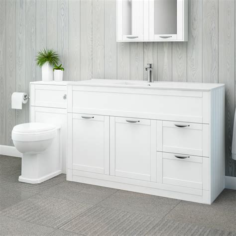Bathroom Combination Furniture Nottingham 1000 White Combination Unit With Park Royal Back To Wall Toilet