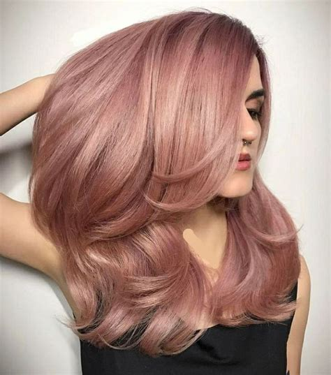 cute ideas to to your hair with a wand 24 cute fall rose gold hair color ideas for your