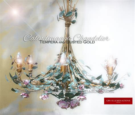 len leuchter dusted gold chandelier gbs illuminazione ferro battuto