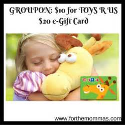 Gift Card Groupon - groupon 10 for toys r us 20 e gift card ftm