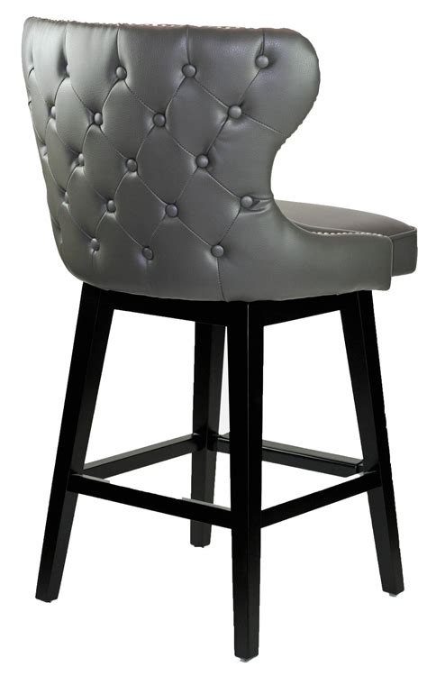 Gray Nailhead Counter Stool by Bar Stools Kitchen Counter Stools R 8707 Grey Leather