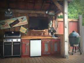 rustic outdoor kitchen ac home design