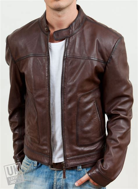 Jaket Oor mens brown leather jacket ascari uk lj