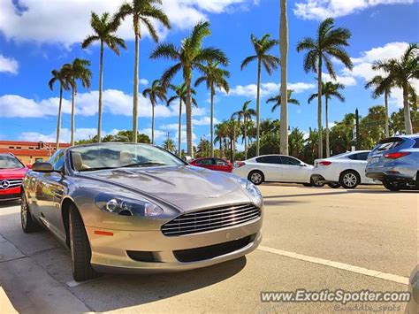 Aston Martin Of Palm by Aston Martin Db9 Spotted In Palm Florida On 02 10 2017