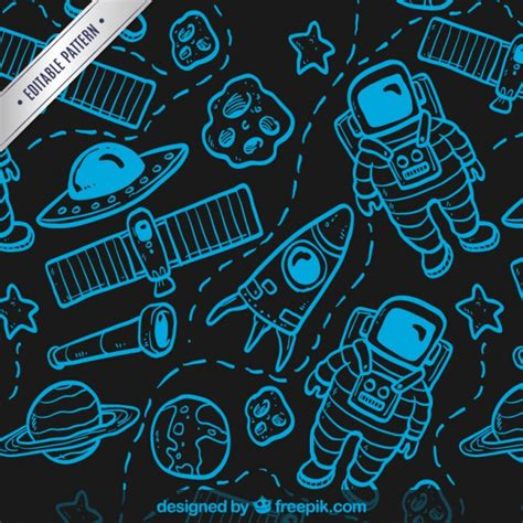 vector pattern hand drawn hand drawn space pattern vector free download