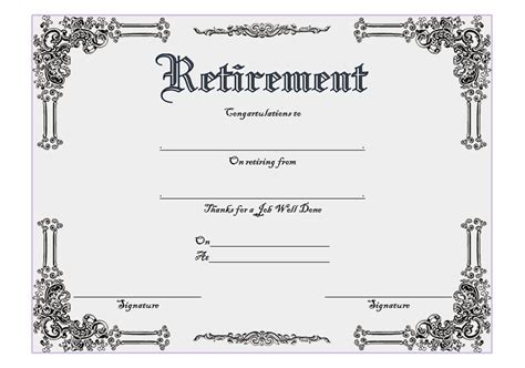 Retirement Certificate Templates by Retirement Certificate Templates Best 10 Templates