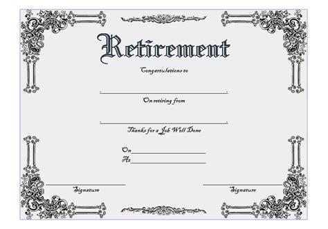 retirement certificate templates retirement certificate templates best 10 templates