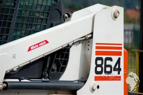 track loader skid steer loader bobcat 864 used kettenlader