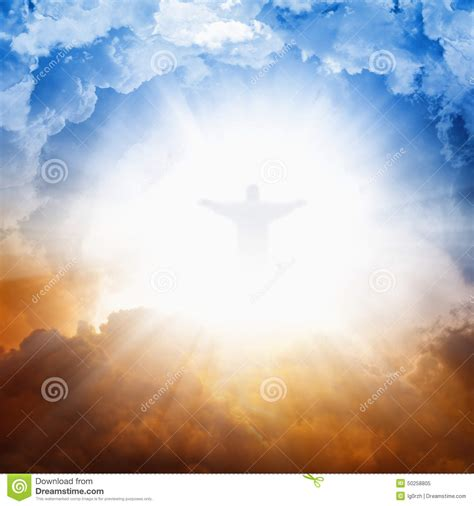 Bright Of The jesus in heaven stock image image of