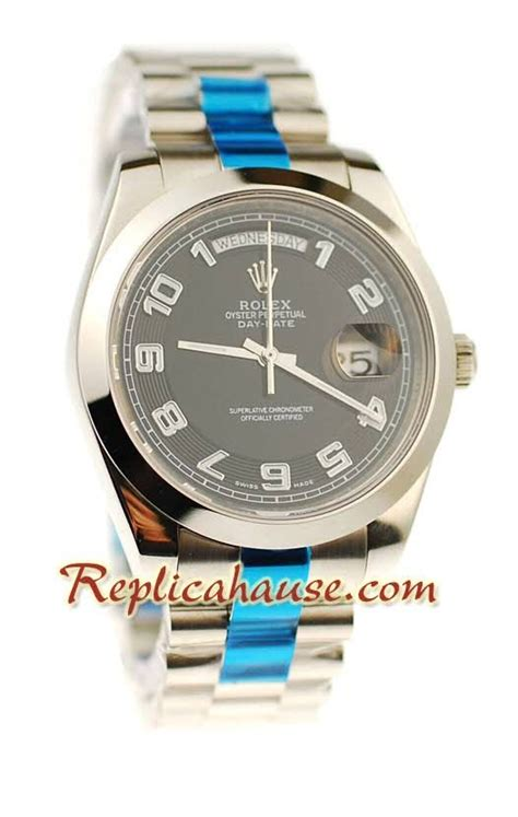 rolex replique day date ii silver montre suisse 41mm rhfr 4128 550
