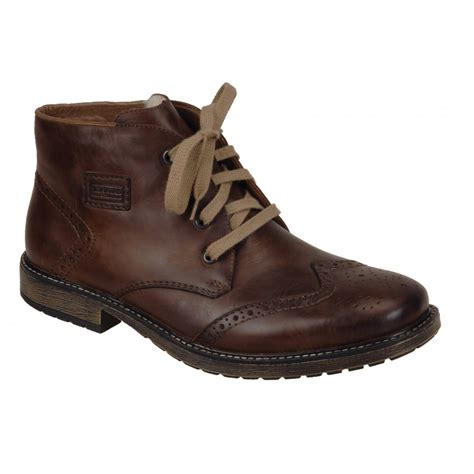 rieker mens boots rieker mens brown brogue style chukka boot 33912 26