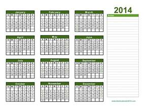 2014 yearly calendar template yearly calendar 2014 2014 calendar template printable